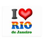 Amo Río de Janeiro, el Brasil la ciudad maravillos Tarjeta Postal