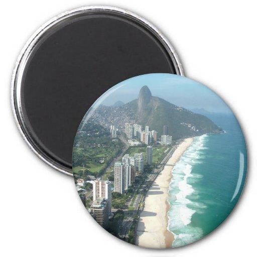 Amo Río de Janeiro Imán Redondo 5 Cm
