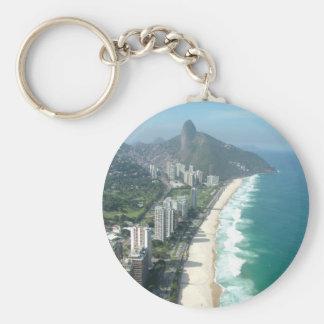 Amo Río de Janeiro Llavero Redondo Tipo Pin
