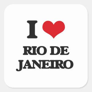 Amo Río de Janeiro Pegatina Cuadrada