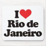Amo Río de Janeiro Tapete De Ratón