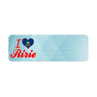 Amo Ririe, Idaho Etiquetas De Remite