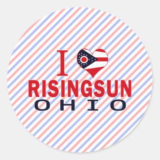 Amo Risingsun Ohio Pegatina