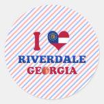 Amo Riverdale, Georgia Pegatinas Redondas