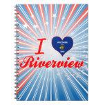 Amo Riverview, Wisconsin Libros De Apuntes Con Espiral