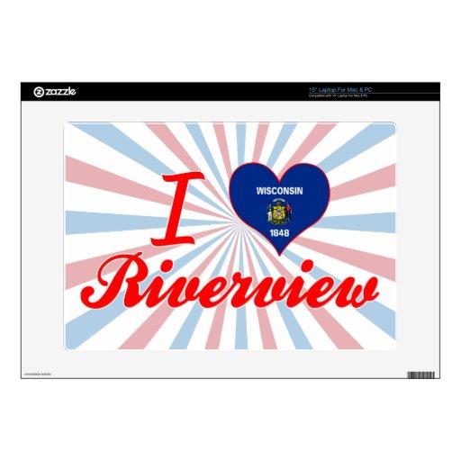 Amo Riverview, Wisconsin 38,1cm Portátil Calcomanías