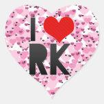 Amo RK Pegatinas Corazon Personalizadas