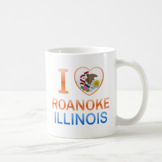 Amo Roanoke, IL Taza Básica Blanca