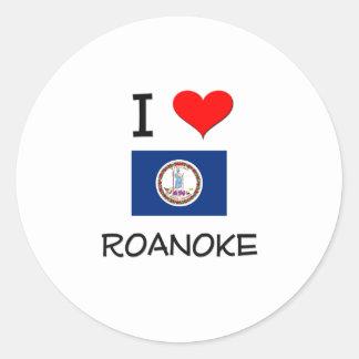 Amo Roanoke Virginia Pegatina Redonda