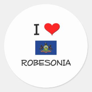 Amo Robesonia Pennsylvania Pegatina