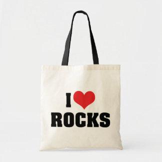 Amo rocas bolsa tela barata