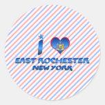 Amo Rochester del este, Nueva York Etiquetas Redondas