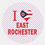 Amo Rochester del este, Ohio Pegatina Redonda