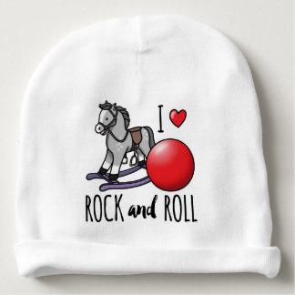Amo rock-and-roll gorrito para bebe