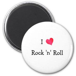Amo rock-and-roll imán redondo 5 cm