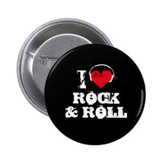 Amo rock-and-roll pin redondo 5 cm