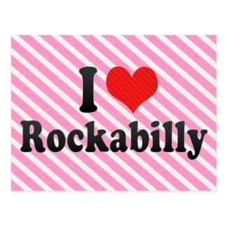 Amo Rockabilly Tarjetas Postales