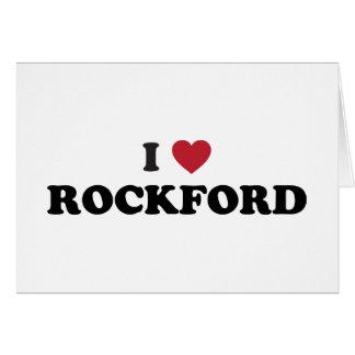 Amo ROCKFORD Illinois Tarjeton
