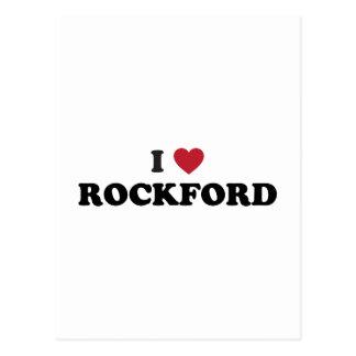Amo ROCKFORD Illinois Tarjetas Postales