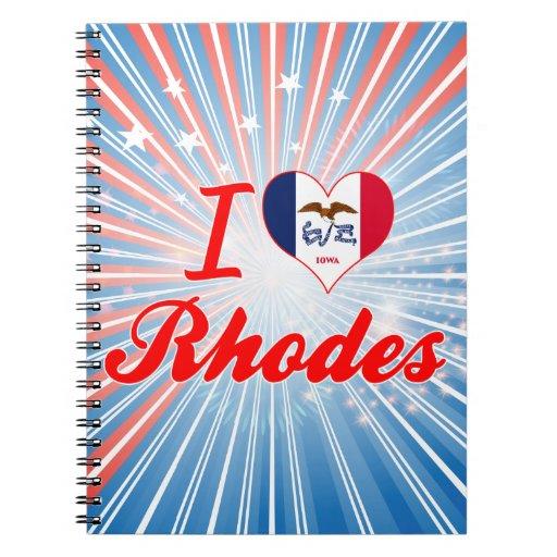 Amo Rodas, Iowa Libros De Apuntes