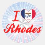 Amo Rodas, Iowa Pegatinas Redondas