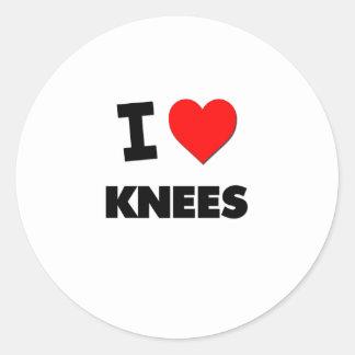 Amo rodillas pegatina redonda