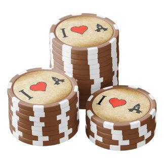 Amo rogar fichas de póquer