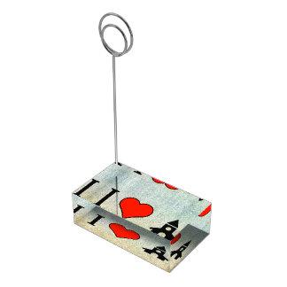Amo rogar soportes de tarjeta de mesa