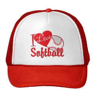 Amo rojo del softball gorros