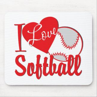 Amo rojo del softball mouse pad