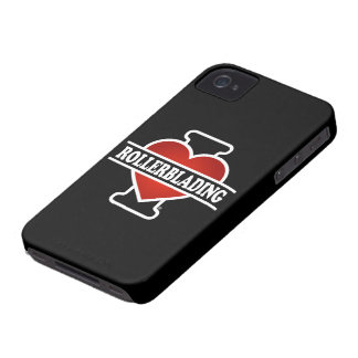 Amo Rollerblading iPhone 4 Protectores