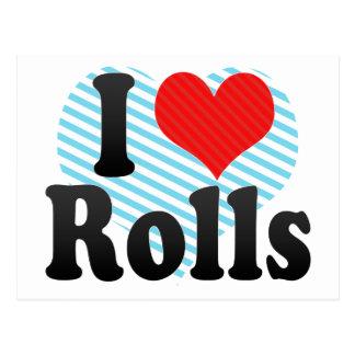 Amo Rolls Tarjeta Postal