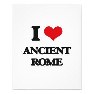"Amo Roma antigua Folleto 4.5"" X 5.6"""