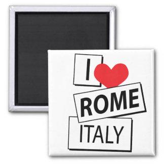 Amo Roma Italia Imán Cuadrado