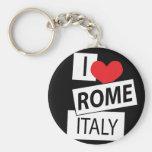 Amo Roma Italia Llavero Personalizado