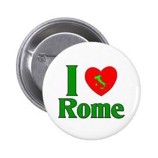 Amo Roma Italia Pin Redondo De 2 Pulgadas