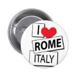 Amo Roma Italia Pins