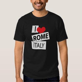 Amo Roma Italia Playeras