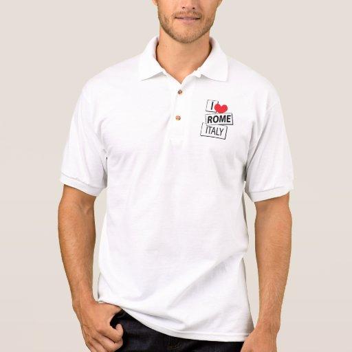 Amo Roma Italia Polo Camisetas