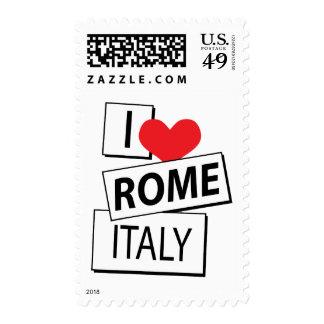 Amo Roma Italia Sello
