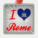 Amo Roma, Nueva York Adorno Para Reyes