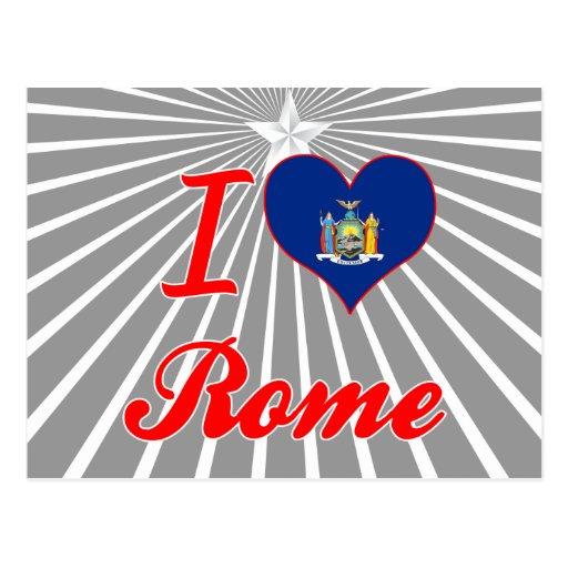 Amo Roma, Nueva York Tarjetas Postales