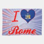 Amo Roma, Nueva York Toalla
