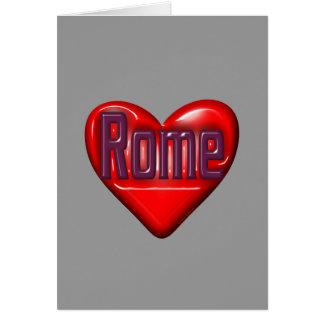 Amo Roma Tarjeta Pequeña