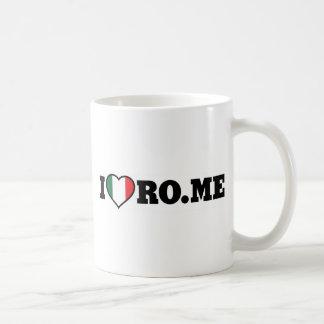 Amo Roma Taza Básica Blanca