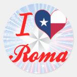 Amo Roma, Tejas Pegatinas Redondas