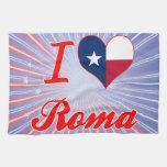 Amo Roma, Tejas Toalla De Mano