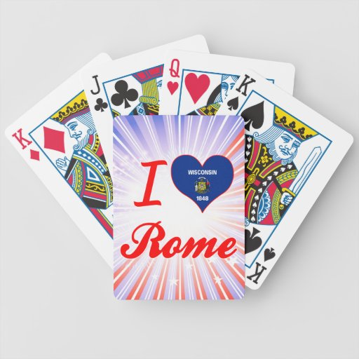 Amo Roma, Wisconsin Baraja Cartas De Poker