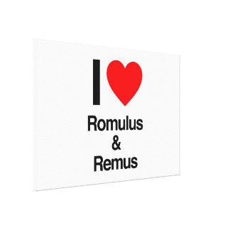 amo romulus y remus impresion en lona