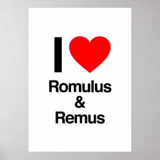 amo romulus y remus impresiones